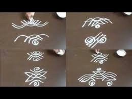 8 small side border kolam without dots kolam side designs for