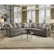 simmons upholstery venture smoke sectional free shipping today