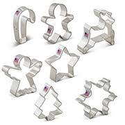 7 piece christmas cookie cutters set ann clark