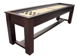 Air Hockey Coffee Table Berner Billiards The Rustic 9 Foot Shuffleboard Table Rustic9