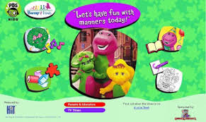 english learning blog pbs kids barney friends
