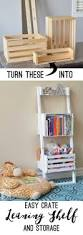 Leaning Shelves Woodworking Plans by Easy Crate Leaning Shelf And Storage Her Tool Belt