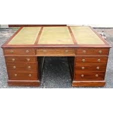 vintage double pedestal partners desk with leather top at 1stdibs