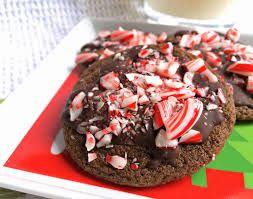a squared holiday baking dark chocolate peppermint cookies