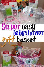 Make Your Own Gift Basket Super Easy Baby Shower Gift Basket