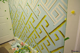 Gold Wall Paint by Geometric Wall Taping It Modern Her Tool Belt
