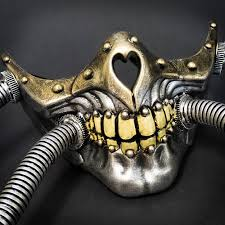 steunk masquerade mask respirator skull gas hose steunk masquerade mask m33238 beyond