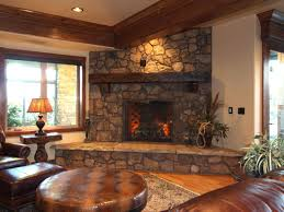 home design stacked stone fireplace ideas farmhouse compact