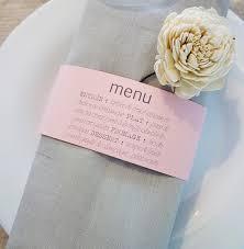 rond de serviette mariage menu bandeau rond de serviette camille 2 z ailes e créations