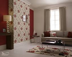 Red Pictures For Living Room by Living Room Flower Wallpaper For Living Room Feature Wall Idea