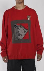 vintage tom and jerry berg knit crewneck sweatshirt sz