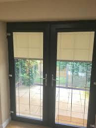 Patio Doors Belfast Patio Doors With Fit Roller Blinds In Grey Frame 1