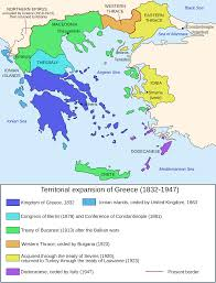 Greece On The Map by File Map Greece Expansion 1832 1947 En Svg Wikimedia Commons