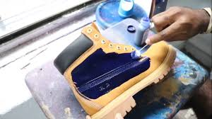 custom made blue timberland boots