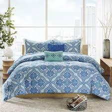 Jcpenney Comforter Sets Amazon Com Intelligent Design Lionna 5 Piece Comforter Set Blue
