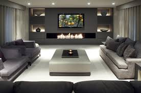 ideas for basement rooms also stunning media room layout trends