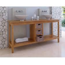 meubles en teck massif meuble bas de salle de bain teck ubud