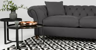 Sofa King Advert by Bardot 3 Seater Chesterfield Sofa Smoke Grey Made Com