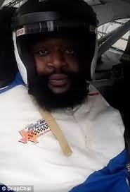 Rick Ross Meme - rick ross gets stuck in the window of a nascar race car daily mail