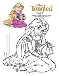 tangled coloring pages disney u0027s princess rapunzel kids