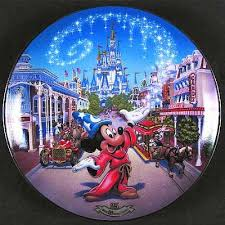 25th anniversary plates collector point plate item usa disney world 25th