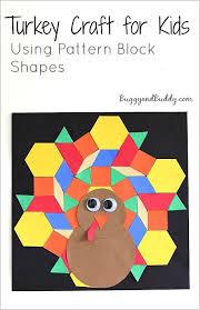 pattern blocks math activities pattern block turkey craft for kids turkey craft pattern blocks