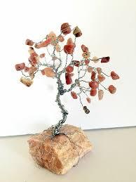 pink lepidolite healing gem tree of life sculpture on rock base