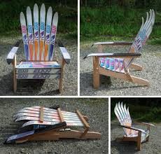 How To Build An Adirondack Chair Diy Build Adirondack Chair With Skis Wooden Pdf Building Plans
