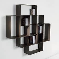 librerie muro da muro componibile mondrian 2a portata 140 kg 148x25x148 cm