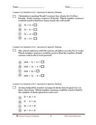 5th grade tennessee common core math math worksheets pinterest