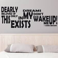 chris brown wake wall sticker quote chimp chris brown wake wall sticker quote