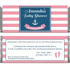 Nautical Theme Babyshower - theme baby shower candy bar wrappers