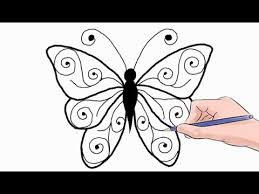 how to draw a butterfly easy by