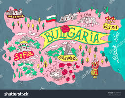 Map Of Bulgaria Illustrated Map Bulgaria Travels Stock Vector 443042449 Shutterstock