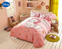 girls bedroom bedding pink cartoon disney marie cat bedding set girls bedroom decor