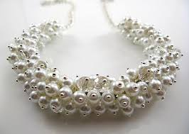 chunky crystal necklace sets images White pearls crystal chunky bib statement bold cluster necklace jpg