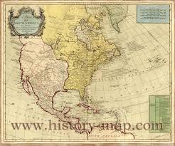 North America Map 1700 by British And Spanish Territory In North America