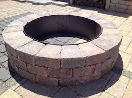 fire pits for sale with the stone blocks landscaping ideas