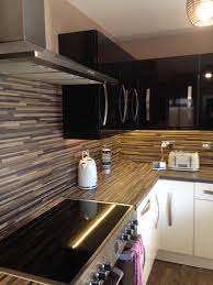 Kitchen Under Cabinet Lighting B Q Gloss Cream And Black Kitchen Doors From B U0026q In Hanham Bristol