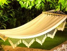 hanging cotton canvas bed skirt relax hammock swing tree cot camp
