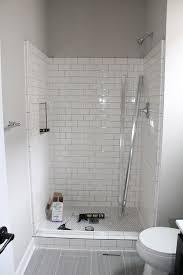 bathroom fresh white subway tile bathroom shower decorating idea