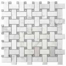 avenzo 12 in x 12 in stone and glass basketweave mosaic wall tile