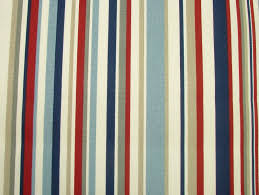 blue and white vertical striped curtains american hwy
