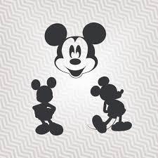 mickey mouse outline cutout vector art cricut silhouette