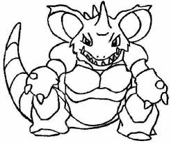 pokemon coloring 034 nidoking coloring pages