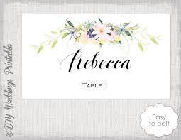 place card template flower garland wreath