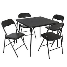 5 Piece Card Table Set Card Table And Chairs Black All About Chair Design
