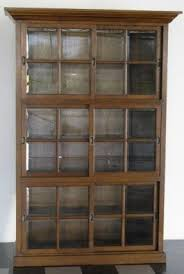 Oak Bookcases With Glass Doors Antique Bookcase With Doors Bookcases Glass Regard To Idea 12