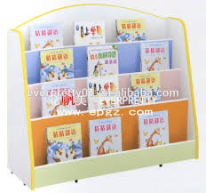 wooden library bookshelf kindergarten classroom furniture