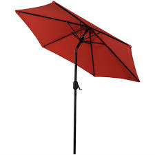 Tilting Patio Umbrella Sunnydaze Aluminum 7 5 Foot Patio Umbrella With Tilt Crank